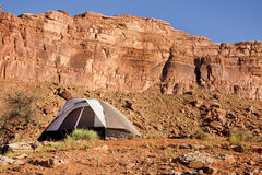 Camp site in the Utah Desert Royalty Free Stock Photography