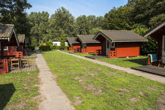 Camp site with wooden cottages near Amsterdam Stock Photography