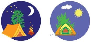 Camp summer. Royalty Free Stock Photos