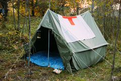 Camp Tent Of Infantry German Wehrmacht Infantry Soldiers During. Camp Tent Of Military Medical Orderlies Of Infantry German Wehrmacht Infantry Soldiers During Royalty Free Stock Image