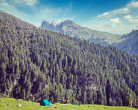 Camp tent in mountain Stock Image
