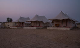 Camp in Thar desert in India Stock Image