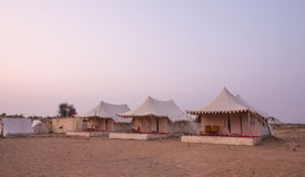 Camp in Thar desert in India. Tourist tents in Thar desert in Rajasthan, India Stock Photography