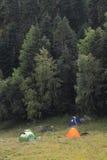 Camp tourists Stock Image