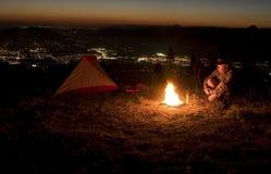camp twilight Στοκ φωτογραφία με δικαίωμα ελεύθερης χρήσης