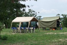 Camp in Uganda Royalty Free Stock Images
