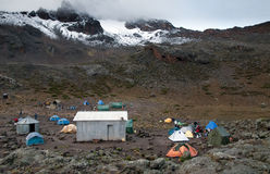 Camp under Kilimanjaro Royalty Free Stock Photos