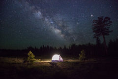 Camp Under the Milky Way Royalty Free Stock Image