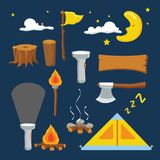 Camp vector collection design royalty free illustration