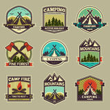 Camp vector label Royalty Free Stock Photo