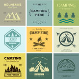 Camp vector label. Retro vector vintage camp label and logo graphics. Camping outdoor, adventure and explorer. Simple and nice design. Travel and Exploration the stock illustration
