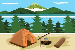 Camp view Stock Photo
