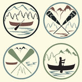 Camp vintage labels set Royalty Free Stock Photography