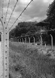 Camp Vught. Barbed wire and watch towers in former concentration camp Vught in The Netherlands Royalty Free Stock Photo