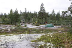 Camp in the wilderness of Norway Stock Image