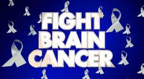 Campaña de Brain Cancer Disease Ribbons Awareness de la lucha stock de ilustración