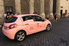 Campaña de concienciación del cáncer de pecho en Roma Imagenes de archivo