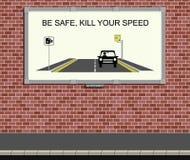 Campaña de la velocidad stock de ilustración