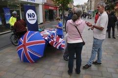 Campaña del referéndum de 2014 escoceses Imagen de archivo libre de regalías