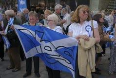 Campaña del referéndum de 2014 escoceses Imagen de archivo