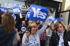 Campaña del referéndum de 2014 escoceses Imagenes de archivo