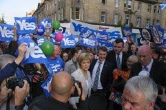 Campaña del referéndum de 2014 escoceses Fotos de archivo