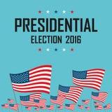 Campaña electoral de presidencial de los 2016 E.E.U.U. stock de ilustración