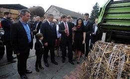 Campaña presidencial de Bronislaw Komorowski imagen de archivo