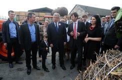 Campaña presidencial de Bronislaw Komorowski imagen de archivo libre de regalías