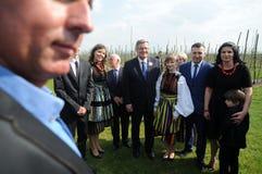 Campaña presidencial de Bronislaw Komorowski Fotografía de archivo