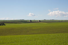 Campaña, un campo abierto, colinas Imagenes de archivo