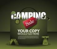 Campa bakgrund EPS 10 för försäljningsshoppingpåse royaltyfri illustrationer