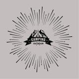 Campa emblem för vektor Royaltyfri Bild