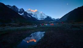 Campa Everest Everest Arkivfoton