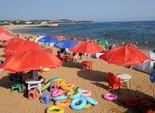 campa för strand Arkivbild