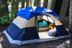 Campa för Tent Arkivfoton