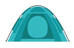 Campa för Tent utrustning Designbeståndsdel för affischen, kort också vektor för coreldrawillustration Plan tecknad filmvektorill stock illustrationer