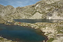 Campa i spanska Pyrenees royaltyfria foton