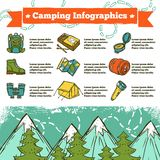 Campa Infographics skissar royaltyfri illustrationer
