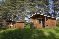 Campa kabin Royaltyfri Bild