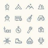 Campa linje symboler vektor illustrationer