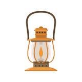 Campa lykta- eller gaslampa stock illustrationer