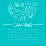 Campa och turismsymboler Arkivfoton