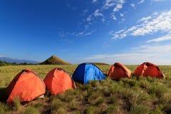 Campa på kenawaön campa tents Fotografering för Bildbyråer