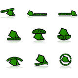 Campa symboler Arkivbild