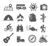 Campa symboler royaltyfri illustrationer