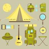 Campa symboler för vektor stock illustrationer