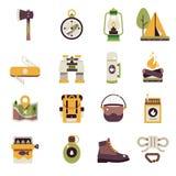 campa symbolsset royaltyfri illustrationer