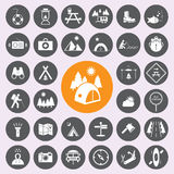 campa symbolsset Vector/EPS10 royaltyfri illustrationer