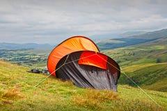 Campa tält Royaltyfri Fotografi